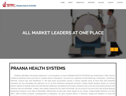 Praana website